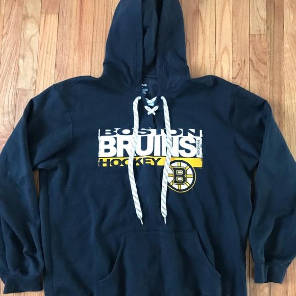 Reebok Boston Bruins Hoodie Sweatshirt Size 2XL fe6a186e4